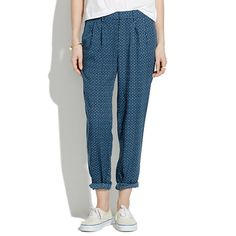 Madewell - Delancey Slouch Trousers in Night Dot