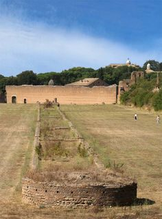 Spina of the Circus of Maxentius.Rome, Via Appia.