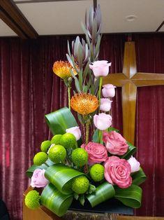 Church flower arrangement