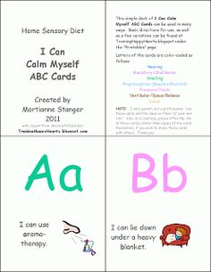 I Can Calm Myself ABC Cards