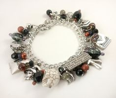 Bump in the Night Halloween Charm Bracelet by MistressJennie