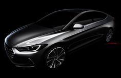 Esboço mostra um pouco do novo Hyundai Elantra (Foto: Hyundai)