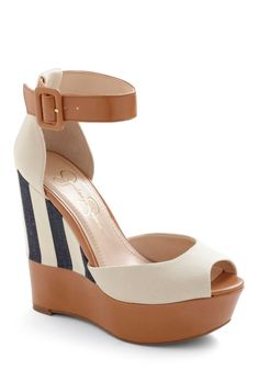 Such fun wedges for spring and summer.