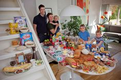 Norway: The Ottersland Dahl Family of Gjettum.   Food expenditure for one week: 2211.97 Norwegian Kroner; $379.41 USD. Favorite foods: fresh baked bread with butter and sugar, pancakes, tomato soup with macaroni and cold milk, yoghurt