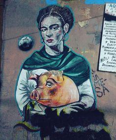 Frida Kahlo #contemporary #urbanart #wall #streetart #color #art #street #oaxaca by zuelemzarco