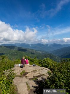 Hike to the view-packed Sam Knob summit, just off the Blue Ridge Parkway near Asheville, NC