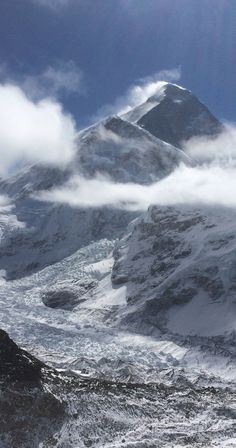 Mount Everest and the Khumbu Glacier.  You'll never tire of this view in Nepal