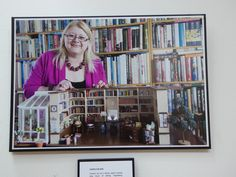 Me with my miniature antiquarian bookshop, kin my sitting room. Photo by Jane Stillwelll, exhibited at Chipping Norton Literary Festival, 2015 in exhibition entitled: 'Writers, Not Writing'