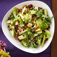 Harvest Salad | MyRecipes.com  Another dish I am making this year! Hmmmm.... Sounds light and hearty at the same time.