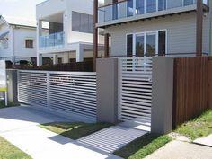 Desain Pagar Rumah Minimalis Modern Compound Gate Design Designs Fence