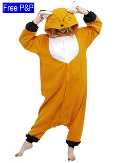 The Kigurumi Japanese Fox is about as cute as they come and he even comes  with a smile. Fox onesie includes orange onesie with furry white chest and  black ... 7a1fadb7b