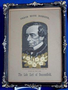 Woven Silk Portrait Disraeli British Prime Minister Commemorative Grant Disraeli, Grant, British Prime Ministers, Portrait, Magazine, Silk, Cover, Books, Libros