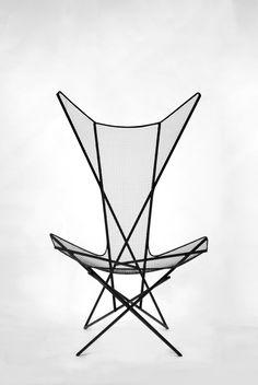 Taewoo Kim; Powder-Coated Steel 'LINEE' Chair, 2013.