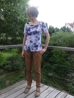 """May-20 shirt """"Lucille"""" from Jolijou via farbenmix.de - a nice pattern because it has only got 2 pattern pieces (sorry for not having a contribution to the friday theme) #MMM16"""
