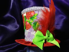 Adorable Purple and Red Mini Top Hat with by daisyleedesign, $19.95