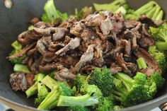 Easy quick homemade beef with broccoli