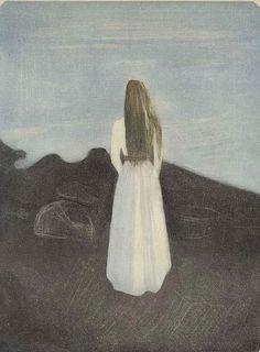 Girl on the Beach (1896) by Edvard Munch