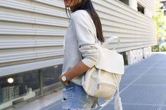 sac à dos cuir blanc pas cher tendance été 2016