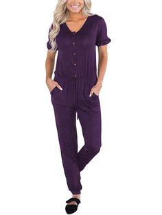 4295158901b Comfy Short Sleeve Jumpsuit. Fancy RomperSummer RomperFloral RomperCasual  JumpsuitJumpsuit OutfitRompers ...