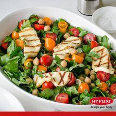 Hiçbir şey salataya peynir kadar yakışmaz! Hypoxi sürecinde vücuda protein girişini artırmak için ızgara hellim salata vazgeçilmezlerdendir.