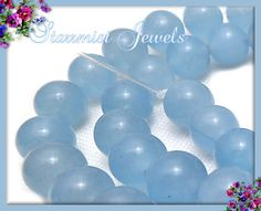 Up for grabs today in the supplies auction! :) Aquamarine beads.
