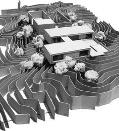 by Ibarra Rosano Design Architects --Interesting way to do topography