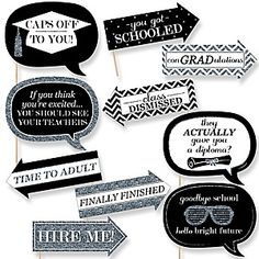 Tassel Worth The Hassel - Silver - Graduation Theme | BigDotOfHappiness.com