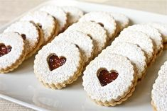 Pecan Linzer Cookies with Raspberry Filling