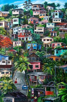 THE HILL     Trinidad  Painting  - THE HILL     Trinidad  Fine Art Print