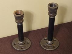 Industrial Metal Pipe Candle Holders & 200 best INDUSTRIAL PIPE IDEAS images on Pinterest | Pipes ...
