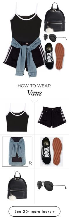 """Sin título #13136"" by vany-alvarado on Polyvore featuring BP., Vans, River Island and Ray-Ban"