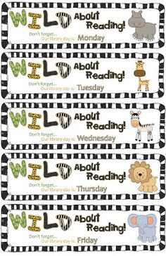 I'm All Booked: Library Lesson: Wild about Books! Library Orientation lesson geared for older elementary students to review library rules and book care. Free bookmarks and handout to download.