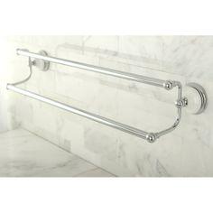 Chrome Towel Rod with Double Bar