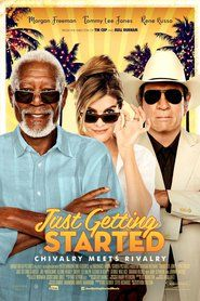 Broad Green Pictures has released the trailer and poster for their upcoming Just Getting Started, starring Morgan Freeman, Tommy Lee Jones and Rene Russo! Films Récents, Hd Movies, Movies To Watch, Movies Online, Movie Film, Cloud Movies, Comedy Film, Hindi Movie, Movies Free