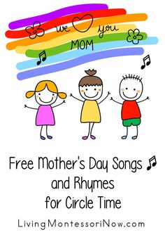 Free Mother's Day song videos and Mother's Day songs and rhymes with lyrics for multiple ages