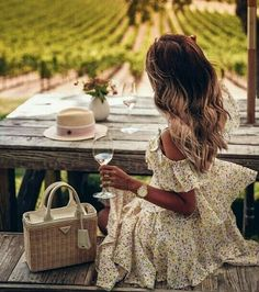 Napa Valley wine tasting at Carneros Inn & Spa # wine tasting outfit summer Giveaway - Win Michele Sidney Watch Vacation Outfits, Summer Outfits, Dress Summer, Spring Dresses, Summer Clothes, Spring Summer, Wine Tasting Outfit, Winter Weekend Getaways, Viva Luxury