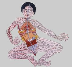 In traditional Chinese medicine, meridian is a path through which the life-energy or qi flows