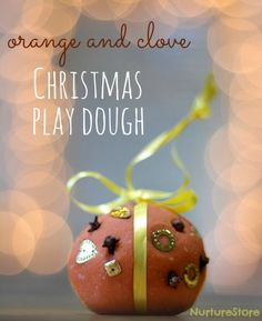 Lovely orange and spice Christmas play dough recipe!~T~ Another great play dough for Christmas gatherings.