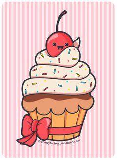 Cute Cupcake by CherryFactory.deviantart.com