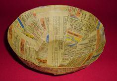 Cesta o tazon en papel reciclado (cartapesta) : VCTRY's BLOG