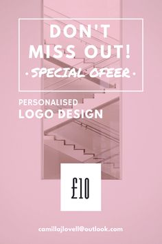 Blogger Offer 10£ for a personalised Logo, If interested my contact email is: camillajlovell@ou... All I ask is that you follow me on Social Media (Instagram: @mmillyjane)