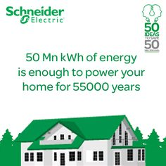 We will be saving 50 Million kWh of energy but what does this really mean? It means electricity that can be used to light up all of your home for 55000 years!