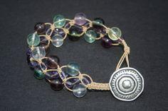 Fluorite macrame bracelet...love the colors!