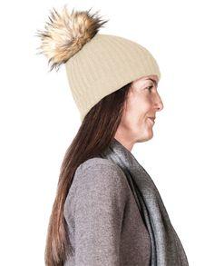 Kaschmir Mütze mit Pompon beige Winter Hats, Beige, Fashion, Cashmere Beanie, Gray, Black, Moda, Fashion Styles, Fasion