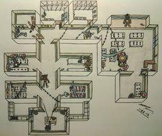 FNAF2 Map Layout - During Gameplay by Sega-HTF.deviantart.com on @DeviantArt