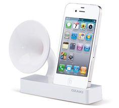 iPhone dock with retro speaker