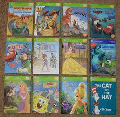 Leap Frog Tag Reader Lot 12 HC Books LeapFrog Cars, Cat In The Hat, Monsters Inc #LeapFrog