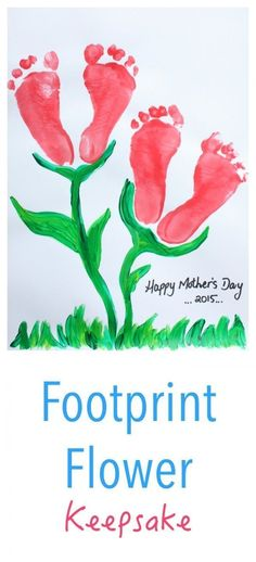 Mother's Day Footprint Flower Keepsake This is an easy - beautiful - kids craft idea for Mothers Day or Valentines Day Should you love arts and crafts you will enjoy this site! Mothers Day Crafts For Kids, Fathers Day Crafts, Valentine Day Crafts, Diy For Kids, Holiday Crafts, Valentines, Daycare Crafts, Baby Crafts, Preschool Crafts