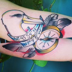 neo-traditional albatross tattoo - Google Search
