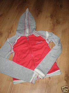 Punkyfish Red and Grey Hoodie